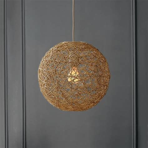woven pendant light woven abaca pendant modern pendant lighting by west elm