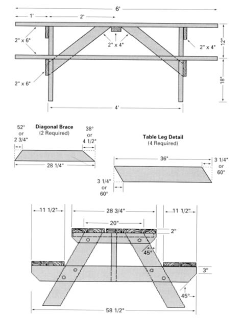 picnic table plans free free picnic table woodworking plans classic style woodwork city free woodworking plans