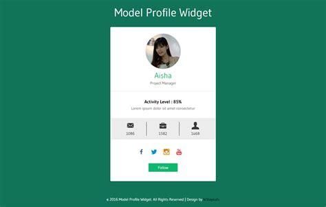 Css Profile Page Template Templates Data User Profile Website Template Free