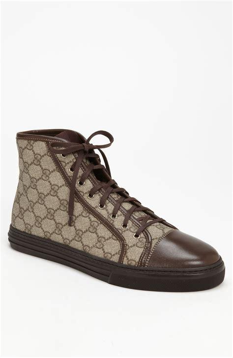 gucci california high top sneakers gucci california high top sneaker in brown for