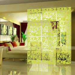 Diy Room Divider Screen 4pcs Butterfly Flower Bird Diy Hanging Screen Panel Room Divider Partition Wall Sticker Lime