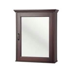 mahogany medicine cabinet mirror foremost ashburn 23 in x 28 in surface mount medicine