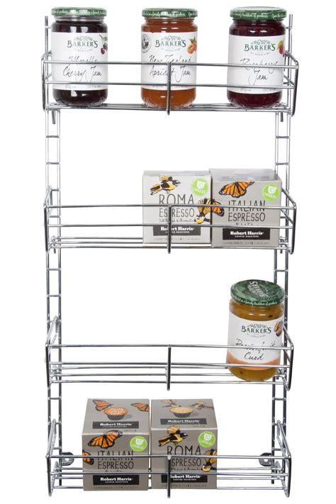 Spice Racks Nz spice rack 4 tier adjustable chrome from storage box
