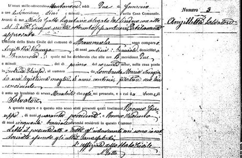 Birth Records Calabria Italy Angilletta Families Of Mammola Births