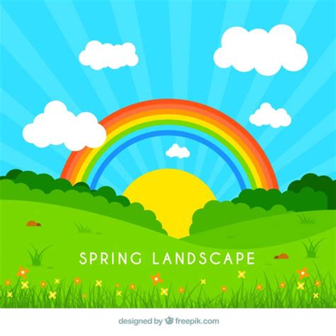 scarica clipart gratis illustrazione paesaggio di primavera scaricare vettori
