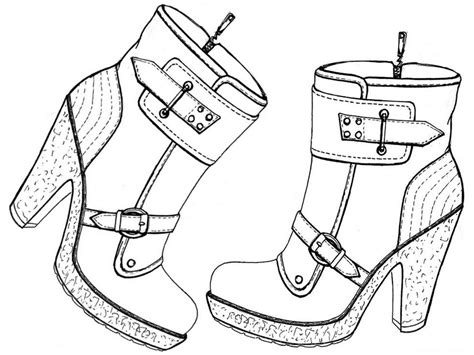 dress shoes coloring page coloriage adulte chaussures bottines 7