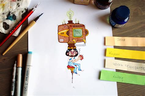 theme generator drawing daily character drawings xi on behance