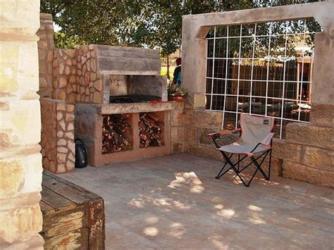 Patio Braai Area Barbecue Free Wood Supplied Picture Patio Braai Designs