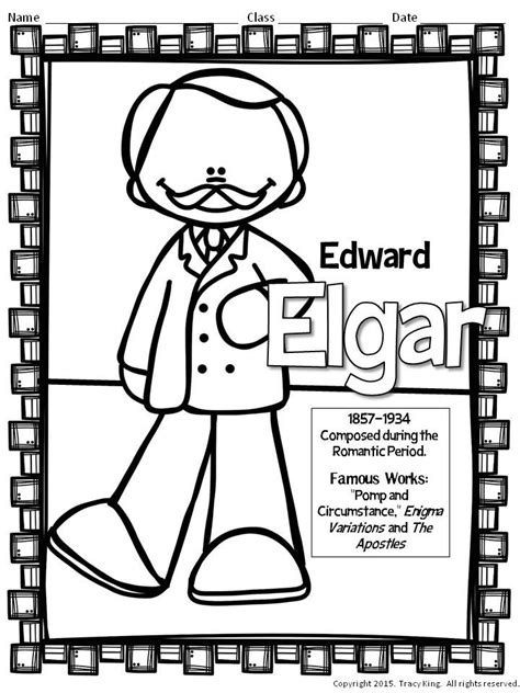 music composer coloring pages composer coloring sheets 2 the bulletin board lady