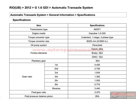 Kia Cerato Owners Manual Kia Ub 2012 G 1 6 Gdi Service Manual Auto Repair