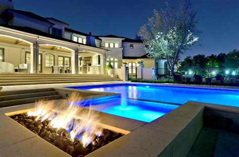 contemporary pools 15 dramatic modern pool areas with fire pits home design