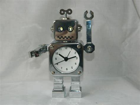 robot desk alarm clock metal flash moving arms rrp 55 aust stock ebay