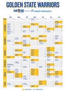warriors home schedule golden state warriors 2014 2015 season schedule