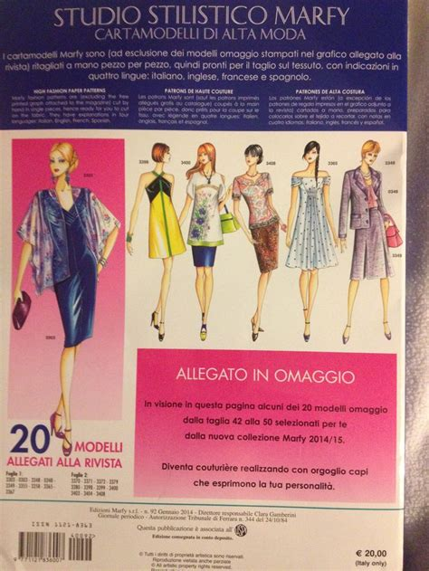 pattern english expressions back cover marfy 2014 15 catalogue which is 24x33cm