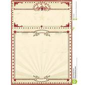 Circus Poster Red Vintage Royalty Free Stock Photos