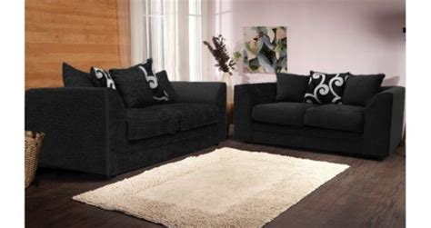 black fabric couches add style and beauty to your living area with a black