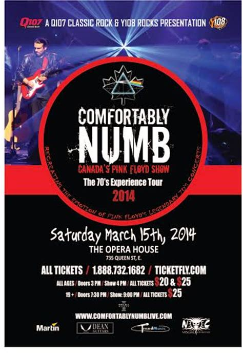 Comfortably Numb by Comfortably Numb Pink Floyd Tribute Tour 2014 T Mak World