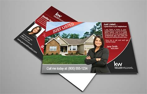 template for the back of the card keller williams keller williams postcards realty cards printing