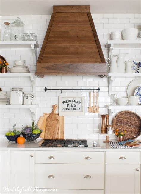 eclectically fall home tour white cottage kitchens