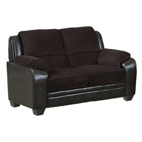 corduroy loveseat venetian worldwide barton chocolate brown corduroy