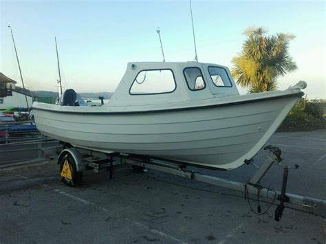 fishing boat and trailer orkney fastliner 19 fishing boat 50hp outboard engine and