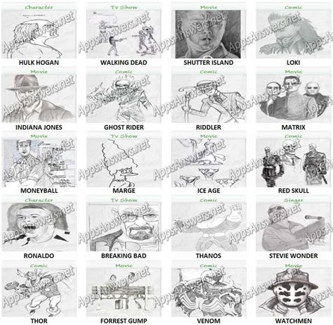doodle guess draw 100 pics answers all level 100 pics answers