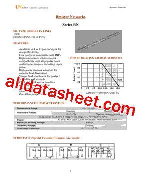 transistor a102 pdf rn8a102j 데이터시트 pdf uniohm corporation