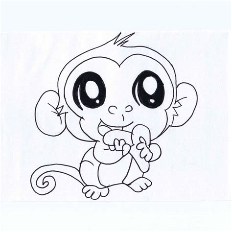 coloring pages of cute animals with big eyes children s illustrations eilish mcfadden