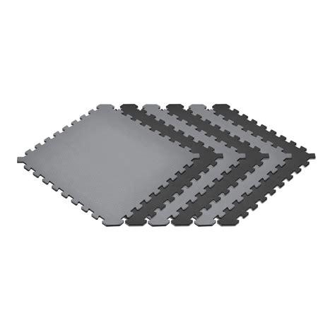 norsk multi purpose 24 in x 24 in interlocking multi color foam flooring recyclamat 4 pieces