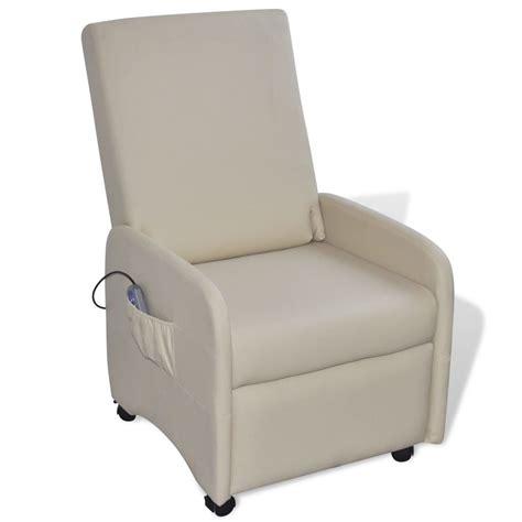sillon reclinable de masaje sill 243 n de masaje reclinable de cuero artificial color