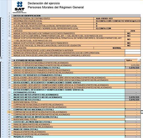 consulta la declaracion anual 2015 ayudadem 2014 c 233 dulas fiscales base para declaraci 243 n
