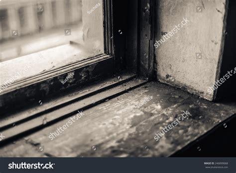 Window Sill Stock Window Sill Bokeh Shallow Depth Of Field Toned Bw