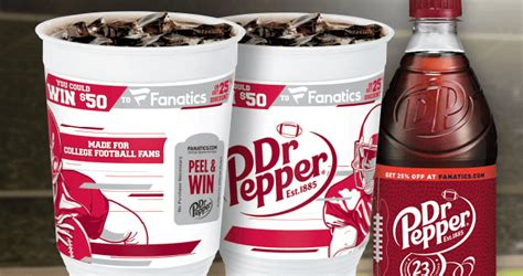 Dr Pepper Sweepstakes - instantly score valuable fanatics coupon codes from your dr pepper fanatics com drpepper