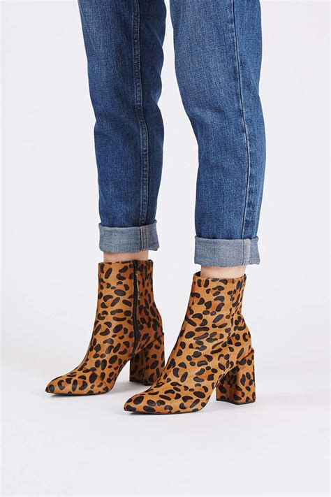 leopard flare boot topshop usa