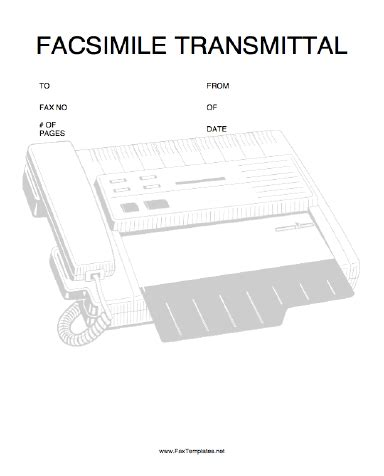Fax Transmission Verification Report Template Transmittal Fax Template