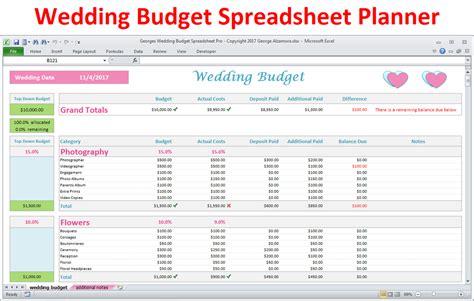 wedding budget excel sheet wedding budget excel spreadsheet a