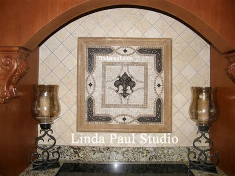 fleur de lis backsplash grand vienna mosaic tile and