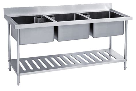 under bench kitchen sinks newworld stainless steel triple sink bench with under shelf