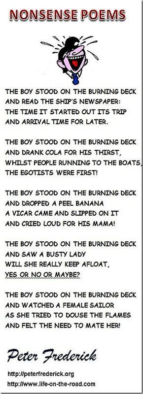 nonsense verse nonsense poems