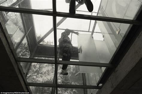 see through public bathroom chinese ecological park opens public toilets made of glass