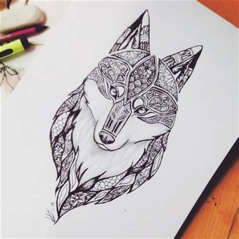 wolf mandala tattoo mandala images designs
