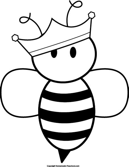 queen bee coloring page free bee clipart