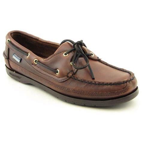 boat shoes sebago sebago schooner leather brown boat shoe slip ons