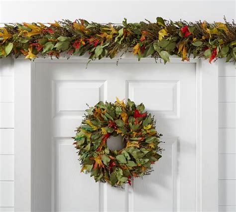 Live Garland Decor - live autumn leaves garland pottery barn