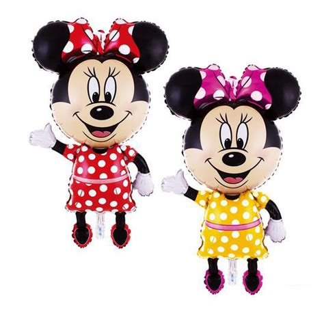 Boneka Micky Mouseminnie Mouse Jumbo large mickey and minnie mouse patterned balloons free