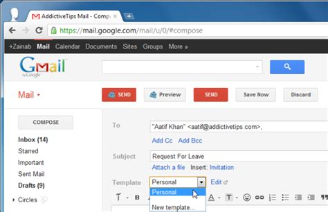 gmail template brandmymail integrate social network content in gmail
