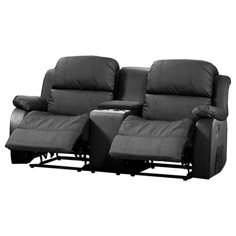 sofa mit tea table lakos  sitzer kinosofa  schwarz mit