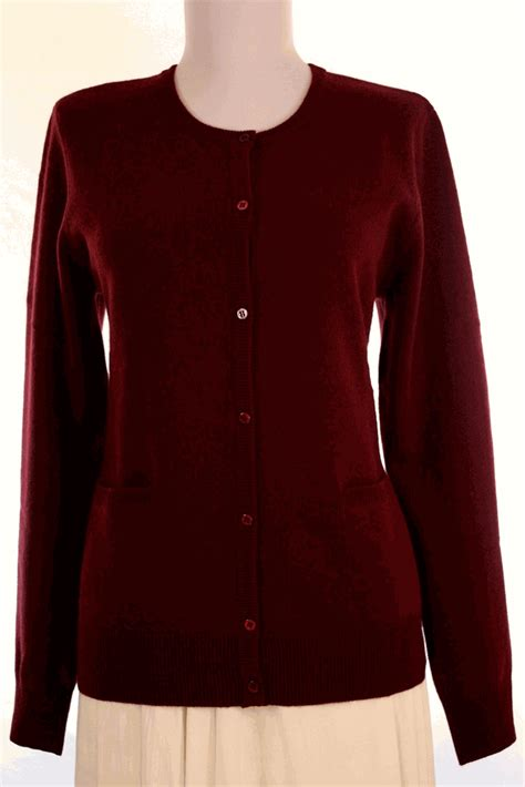 Sweater Coolwoman Maroon cardigan sweaters womens sweater womens cardigan neck sale and