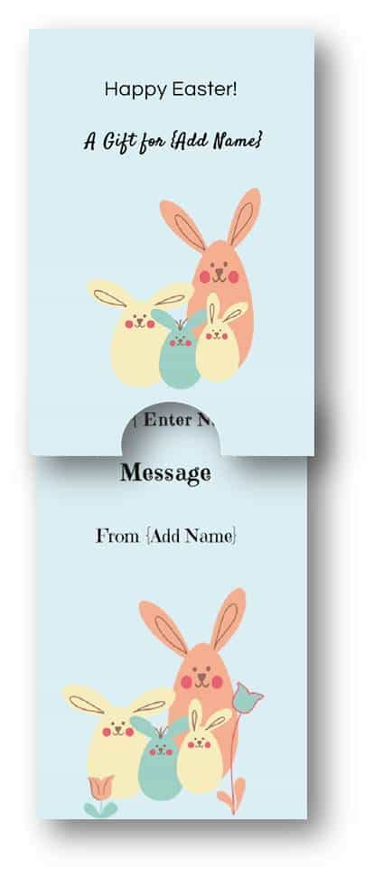 easter gift card template customize   text andor pictures