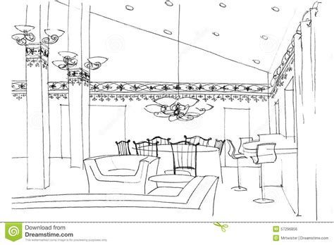 interior design sketches of furniture 2018 publizzity com sketch interior of a public building stock photography